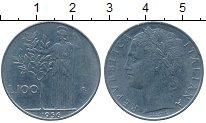 Изображение Дешевые монеты Италия 100 лир 1956 Сталь XF