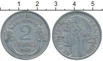 Изображение Дешевые монеты Франция 2 франка 1948 Алюминий XF в