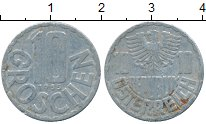 Изображение Дешевые монеты Австрия 10 грош 1955 Алюминий VF+