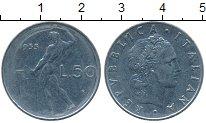 Изображение Дешевые монеты Италия 50 лир 1955 Сталь XF