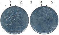 Изображение Дешевые монеты Италия 100 лир 1959 Сталь XF