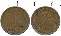 Изображение Дешевые монеты Нидерланды 1 цент 1965 Медь XF