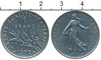 Изображение Дешевые монеты Франция 1 франк 1970 Медно-никель XF
