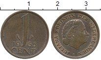 Изображение Дешевые монеты Нидерланды 1 цент 1966 Медь XF