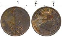 Изображение Дешевые монеты Нидерланды 1 цент 1966 Медь XF-