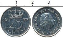 Изображение Дешевые монеты Нидерланды 25 центов 1977 Медно-никель XF