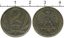 Изображение Дешевые монеты Польша 2 злотых 1976 Медно-никель XF-
