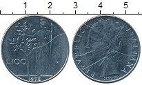 Изображение Дешевые монеты Италия 100 лир 1978 Медно-никель VF+
