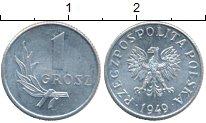 Изображение Дешевые монеты Польша 1 грош 1949 Алюминий XF