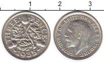 Изображение Монеты Великобритания 3 пенса 1935 Серебро VF
