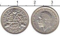 Изображение Монеты Великобритания 3 пенса 1934 Серебро XF Георг V