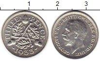 Изображение Монеты Великобритания 3 пенса 1933 Серебро XF