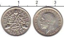 Изображение Монеты Великобритания 3 пенса 1931 Серебро XF