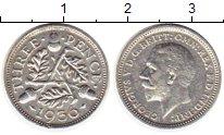 Изображение Монеты Великобритания 3 пенса 1936 Серебро XF Георг V