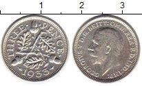 Изображение Монеты Великобритания 3 пенса 1933 Серебро XF Георг V