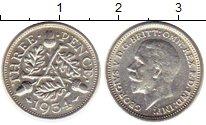 Изображение Монеты Великобритания 3 пенса 1934 Серебро XF