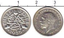Изображение Монеты Великобритания 3 пенса 1935 Серебро XF Георг V