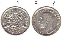 Изображение Монеты Великобритания 3 пенса 1936 Серебро VF