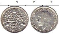 Изображение Монеты Великобритания 3 пенса 1936 Серебро VF Георг V
