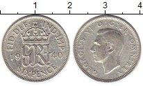 Изображение Монеты Великобритания 6 пенсов 1940 Серебро VF