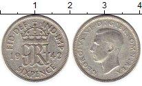 Изображение Монеты Великобритания 6 пенсов 1942 Серебро VF Георг VI