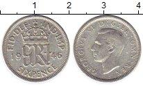 Изображение Монеты Великобритания 6 пенсов 1946 Серебро VF