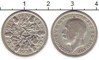 Изображение Монеты Великобритания 6 пенсов 1928 Серебро VF Георг V
