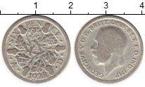 Изображение Монеты Великобритания 6 пенсов 1928 Серебро VF