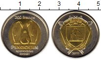 Изображение Монеты Антарктика - Французские территории 200 франков 2011 Биметалл UNC