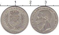 Изображение Монеты Бельгия Бельгийское Конго 50 сантим 1887 Серебро VF