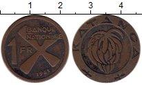 Изображение Монеты Катанга 1 франк 1961 Медь VF+