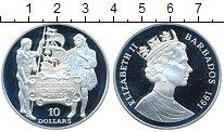 Изображение Монеты Барбадос 10 долларов 1991 Серебро Proof 500 лет открытия Аме