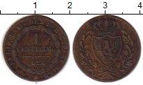 Изображение Монеты Италия Сардиния 1 сентесимо 1826 Медь XF