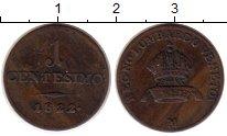 Изображение Монеты Европа Ломбардия 1 сентесимо 1822 Медь XF-