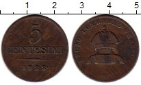Изображение Монеты Ломбардия 5 сентесимо 1822 Медь VF+