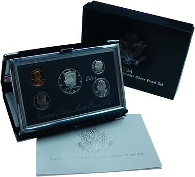Изображение Подарочные монеты Северная Америка США Набор 1994 года 1994  Proof