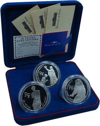 Изображение Подарочные монеты Франция Сокровища Лувра 1993 Серебро Proof-