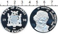 Изображение Монеты Замбия 4000 квач 1998 Серебро Proof-