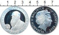 Изображение Монеты Остров Джерси 5 фунтов 2006 Серебро Proof- Чарльз Дарвин