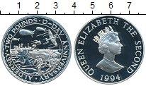 Изображение Монеты Олдерни 2 фунта 1994 Серебро Proof