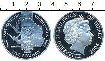 Изображение Монеты Остров Джерси 5 фунтов 2006 Серебро Proof- Джеймс Николсон.Битв