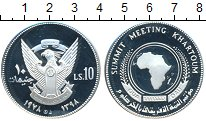 Изображение Монеты Судан 10 фунтов 1978 Серебро Proof- Саммит Африканского