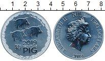 Изображение Монеты Ниуэ 2 доллара 2019 Серебро UNC