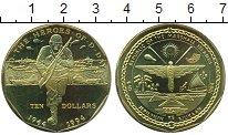 Изображение Монеты Маршалловы острова 10 долларов 1994 Латунь UNC Вторая Мировая Война
