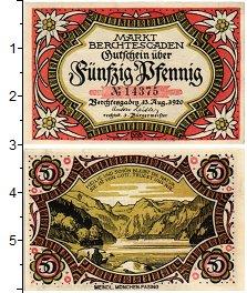 Изображение Банкноты Германия : Нотгельды 50 пфеннигов 1920  XF Берхтесгаден