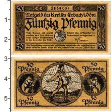 Изображение Банкноты Германия : Нотгельды 50 пфеннигов 1918  UNC- Эрбах на Оденвальде