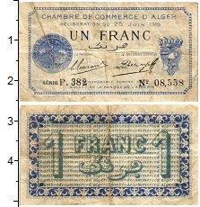 Изображение Банкноты Алжир 1 франк 1919  VF