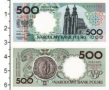 Изображение Банкноты Польша 500 злотых 1990  UNC