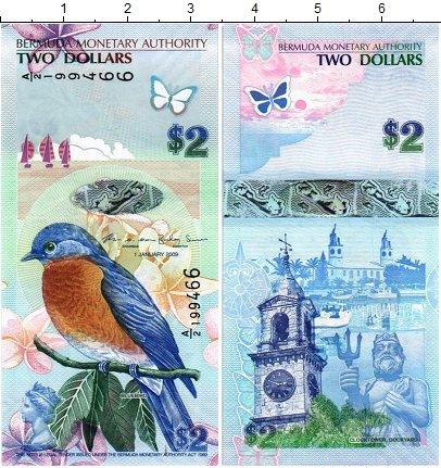 Изображение Банкноты Бермудские острова 2 доллара 2009  UNC