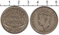 Изображение Монеты Сейшелы 1 рупия 1939 Серебро XF-